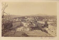 Nice Place Garibaldi Fotografo primitivo Francia Vintage albumina verso 1865