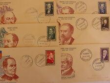 Enveloppes 1er Jour Serie Personnages Celebres 1952 N° 930/35