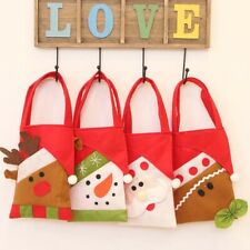 Snowman Santa Claus Elk Merry Christmas Candy Bags Gift Bag Tote Xmas Decoration