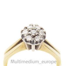 585er Gelb Gold Verlobungs Ring 14ct Diamanten 14k vintage gold ring diamonds