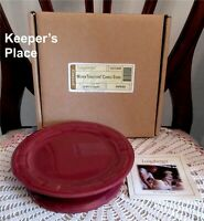 Longaberger Woven Traditions Candle Stand Paprika Pottery 3175440 New In Box