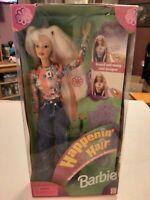 Happenin' Hair Barbie Doll #22882 Mattel 1998 NRFB Long Pink & Blonde Hair