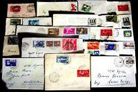 Repubblica -Storia Postale - Lotto da 21  buste con commemorativi