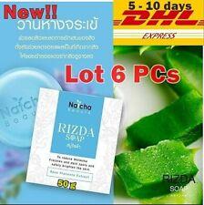 6X Rizda Natcha SOAP Rose Placenta Aloe Reduce Acne Dark Spot Smooth Skin 50 g