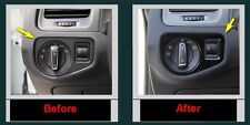 1P Gloss Black Headlight Switch ABS Trim for VW Golf MK7 TDI GTI TDI R32 2014-15