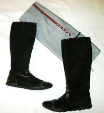 PRADA ~ Brown VELVET High Boots ~ US:8 ; EUR: 38 - 38.5 ~ AUTHENTIC