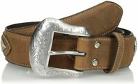 Nocona Men's Brown Overlay String Lace Belt