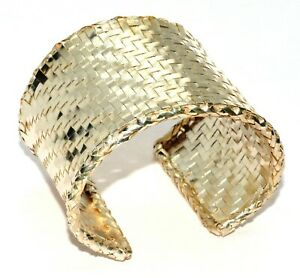 Tiffany& Co Angela Cummings Sterling Silver Large Woven Mesh Bracelet Cuff (T36)