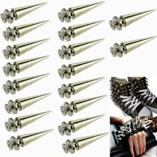 20 X 26mm Silver Spots Cone Screw Metal Studs Leathercraft Rivet Bullet Spikes