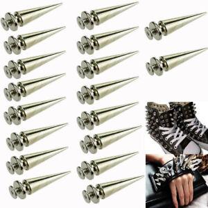 20 X 26mm Silver Spots Cone Screw Metal Studs Leathercraft Rivet Bullet Spikes