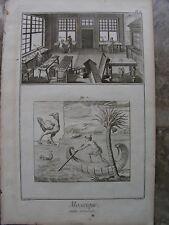 MOSAIK- HERSTELLUNG, Werkstatt, Vorlagen  5 Kupferstiche Diderot 1770 Folio
