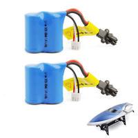 2PCs 7.4V 600mAh Li-ion Battery Pack for Skytech H102 H106 RC Hobby Boat Spare