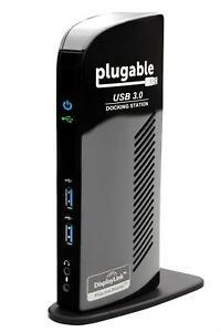 Plugable USB 3.0 Universal Laptop Docking Station for Windows and Mac
