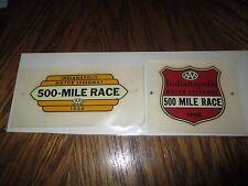 Original 1950 AAA Indianapolis 500 Mile Race Car Decals (2)