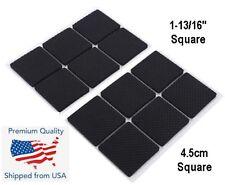 12PCS Square Self Adhesive Furniture Leg Non Slip Felt Pads Anti Slip Mat Black