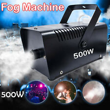 More details for 500w fog smoke machine mist effect w/ remote dj disco stage halloween party home