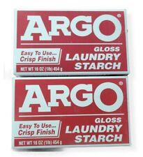ARGO Gloss   Powder Laundry Starch   2 Boxes   16 oz each  BB 2019