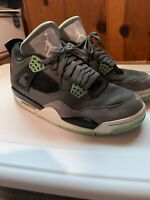 NIKE AIR JORDAN 4 RETRO CEMENT GREY/BLACK/GREEN GLOW 308497-033 OG Size 9.5