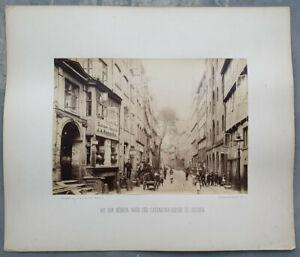 Fotografie Bei den Mühren Hamburg Georg Koppmann von 1884 großformatig, Albumin