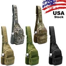 Men Backpack Molle Tactical Sling Chest Pack  Outdoor Hiking Travel Shoulder Bag