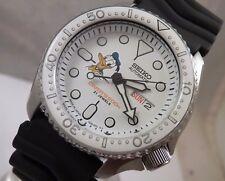 Seiko Cerámica Blanca Donald Duck Automático Día Fecha reloj de buceo SKX007 Personalizado