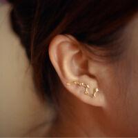 Trinkets Silver Constellation Star Big Dipper Earring Jewelry Stud Earrings