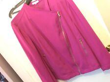 Calvin Klein Plus Size Hot Pink Women's Biker Jacket 3X