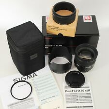 SigmaHSM DG 85mm f/1,4 EX für NIKON/wie neu/komplett/Garantie 7/19/ Fotohändler