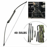 30-50LBS Folding Takedown Bow 54'' Straight Pull Longbow for Archery Shooting