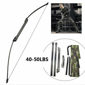 30-50LBS 54'' Straight Pull Longbow Right Left Hand Folding Takedown Bow Archery