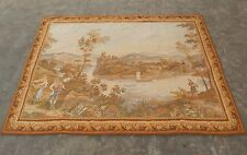 Large Vintage French Beautiful Scene Tapestry 184x132cm (A1020)