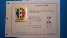 FRANCE DOCUMENT ARTISTIQUE YVERT 2481 RASSEMBLEMENT PIEDS-NOIRS NICE 1987  L507
