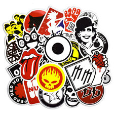 Hot 50 PCS Rock & Roll Stickers Punk Sticker Vinyl Decals for Skateboard Luggage