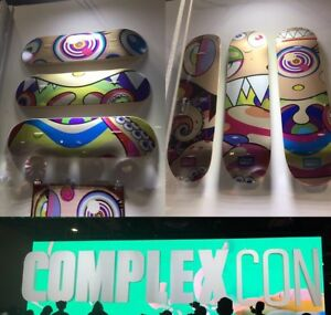 Takashi Murakami Complexcon Complex Con Face Eyes Mouth Skate Deck Set of 6