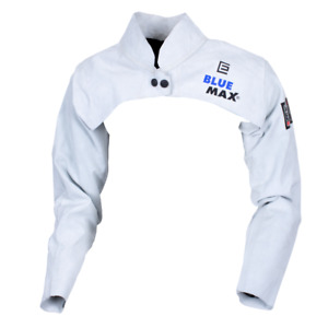 Blue Max Chrome Leather Welding Sleeves With Yoke