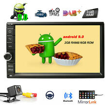 "7"" 2 Din Android 9.0 Car Stereo GPS WiFi OBD2 Head unit Radio DAB+ USB Camera"