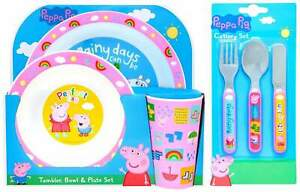 Peppa Pig 'Perfect Day' 6-Piece Dinner and Cutlery Set | Tableware | Mealtime