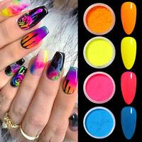 1g Bulk Glow in the Dark Nail Glitter Powder Colorful Nail Art Pigment Dust Tips
