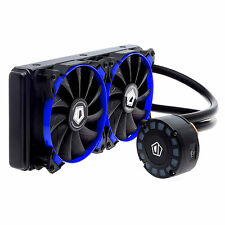 ID-COOLING 240L AIO Water Cooler Blue Unique Comet-tail LED Lighting,240Radiator