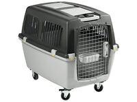 Trasportino gulliver 5 iata per cani colore grigio scuro/chiaro 81X61XH60CM cm