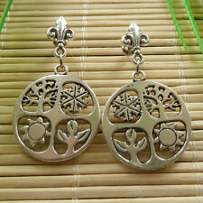 16pairs tibet silver nice charms Earrings eardrop 43x25mm ZH828