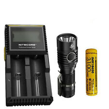 Combo: NITECORE MH23 1800Lm Rechargeable Flashlight w/10A Battery & D2 Charger