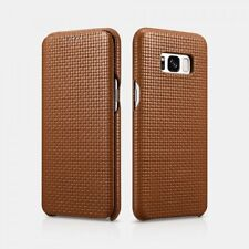Samsung galaxy S8 Etui en cuir véritable Woven Pattern Marron
