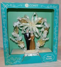 Vtg Wedding Anniversary Cake Topper Coast Man Woman Couple Gray Hair New in Box