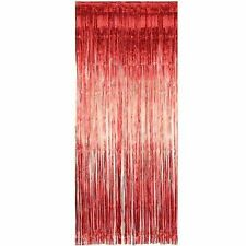 (pack of 50) Shimmer Foil Red Curtains for ,birthday,Xmas,wedding decor 1M x 2M