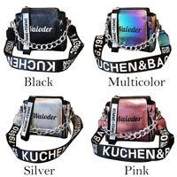 Women's Shoulder Bag PU Leather Bags Crossbody Handbag Messenger Chain AU