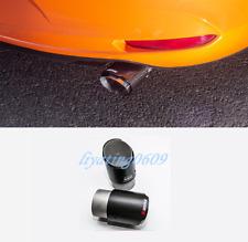 2PCS Carbon Fiber Rear Exhaust Muffler Tip End Pipe For Mazda 3 Axela 2019 2020