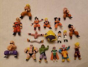 17 Dragon Ball Z Mini Figures & 11 are Bandai Toys BS STA 1989 PVC Figures RARE