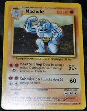 Machoke # 34/102 Unlimited Base Set Pokemon TCG Game Trading Cards Fighting