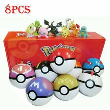 8Pcs Pokemon Ball Set Pokeball GO Action Figures Xmas Toys Children Kids Gift